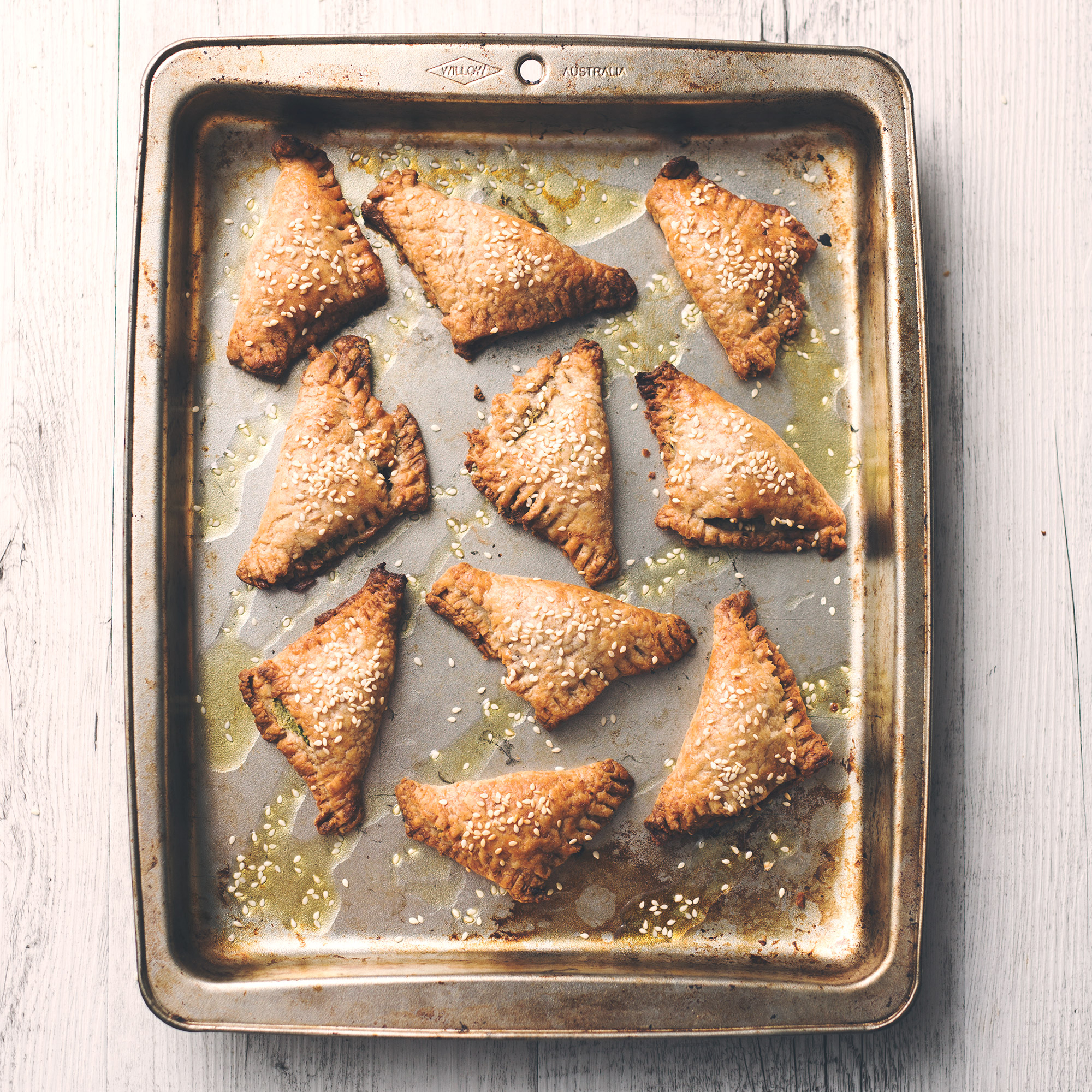 Vegan Spinach and Ricotta Puff Pastry Triangles