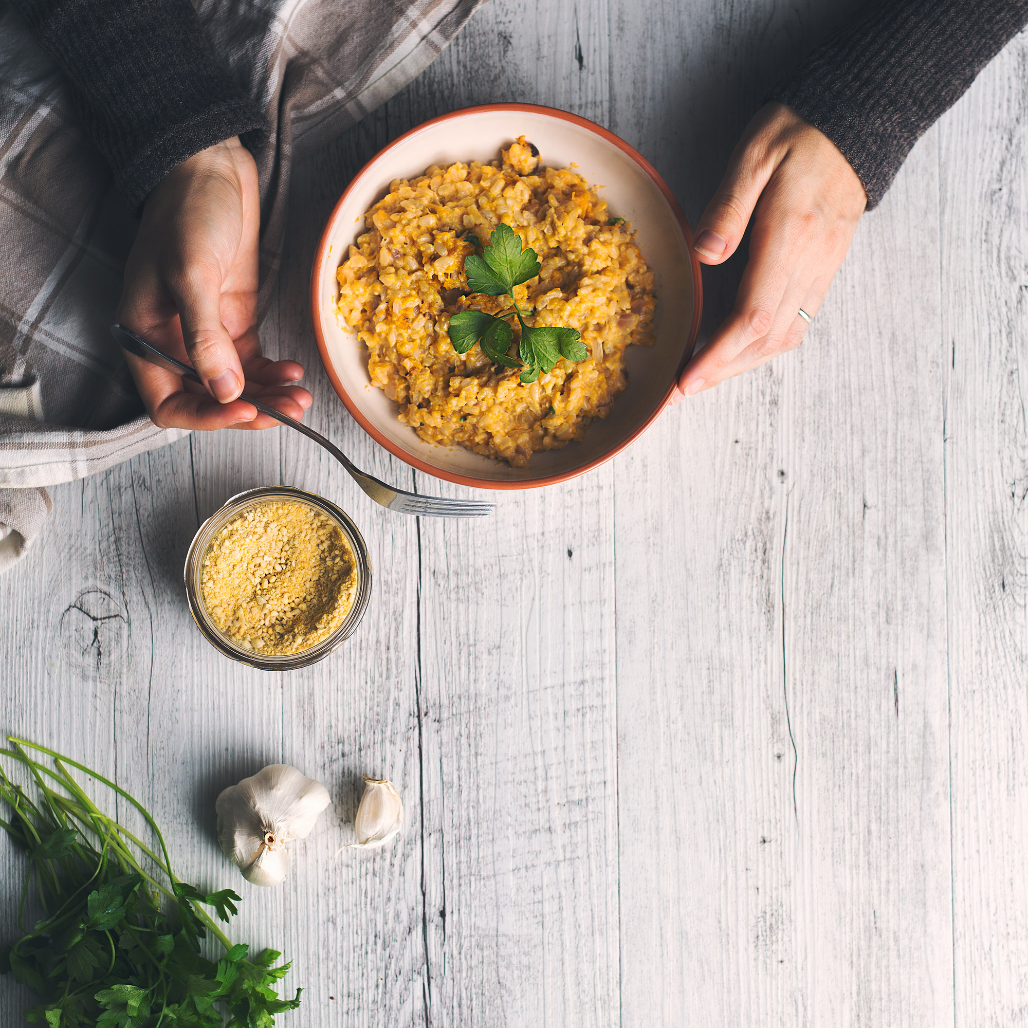 Vegan Brown Rice Pumpkin Risotto