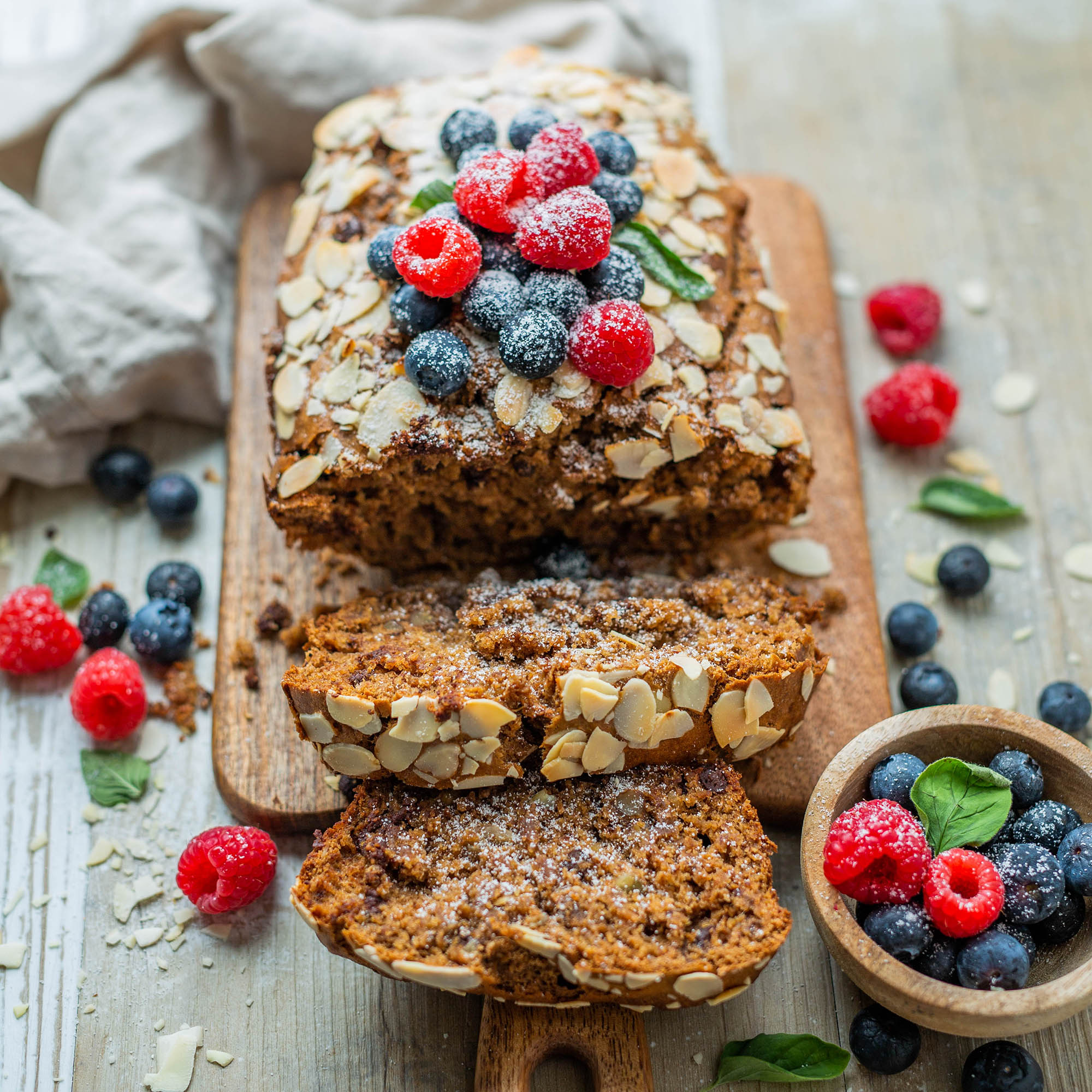 Easy Vegan Almond Butter Banana Bread