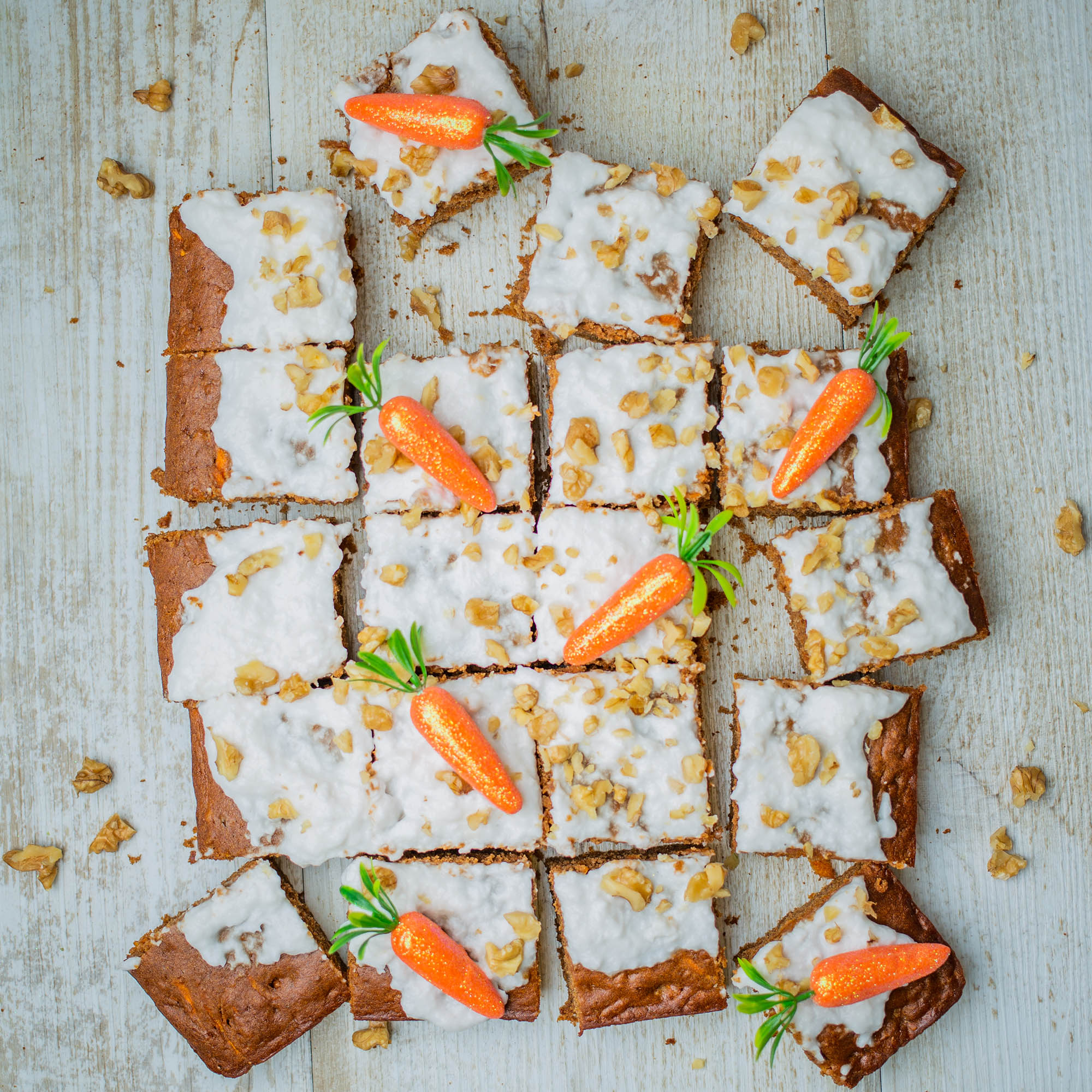Vegan Carrot Cake Slice with Coconut Yogurt Frosting