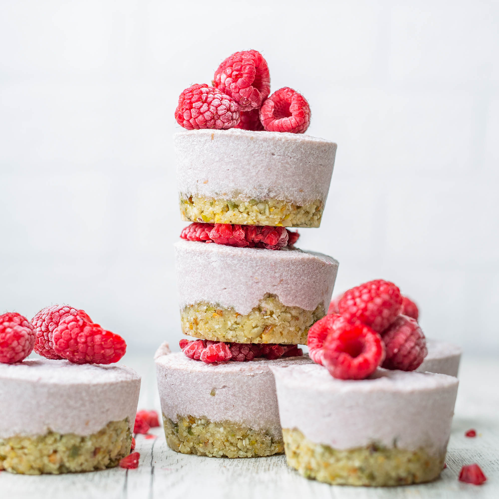 Raw Vegan Raspberry Elderflower Cakes