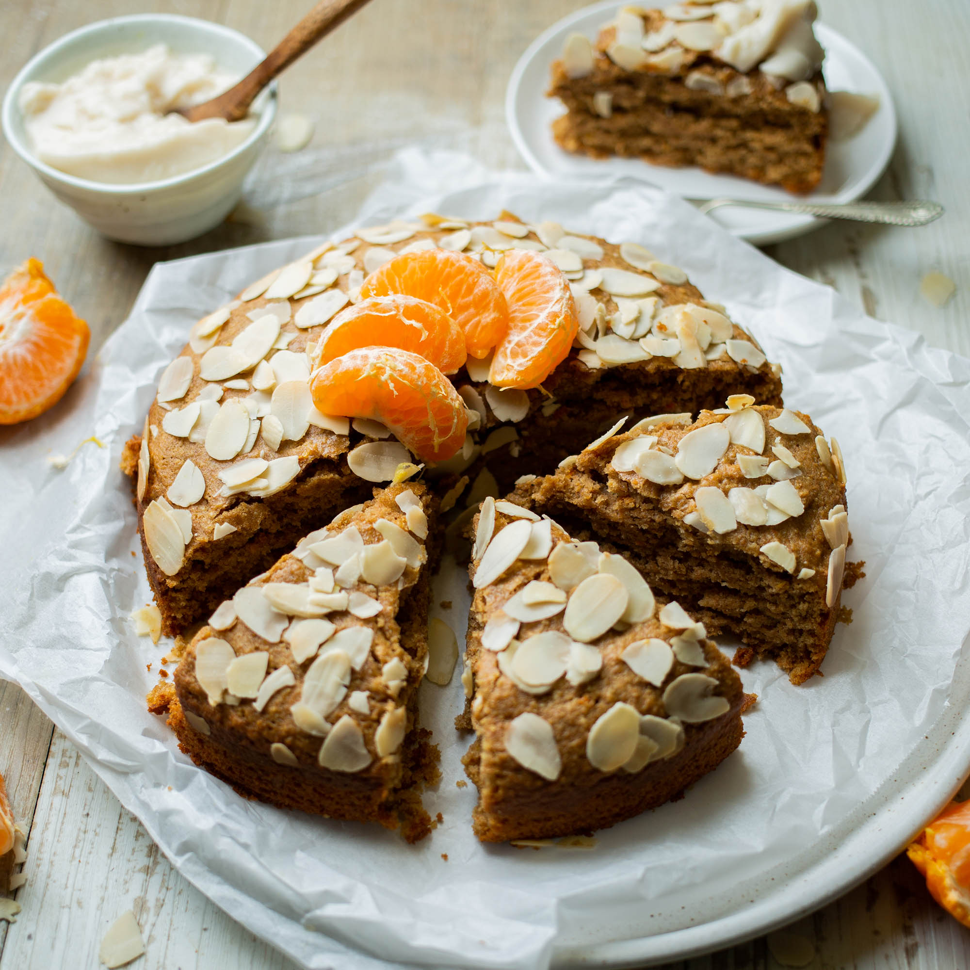 Vegan Refined Sugar Free Orange Almond Cake