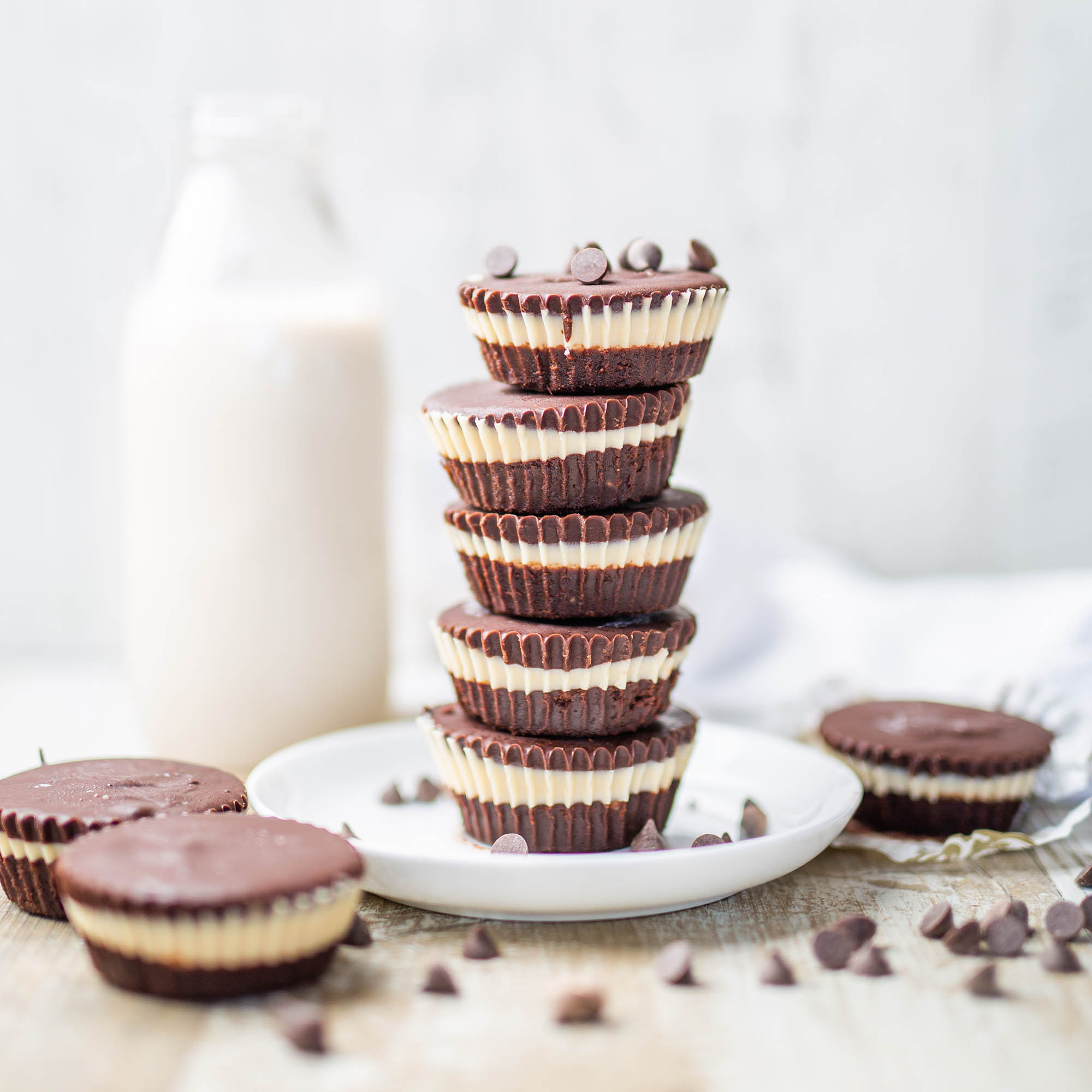 Sunflower Butter Chocolate Cups with Vegan White Chocolate Centre