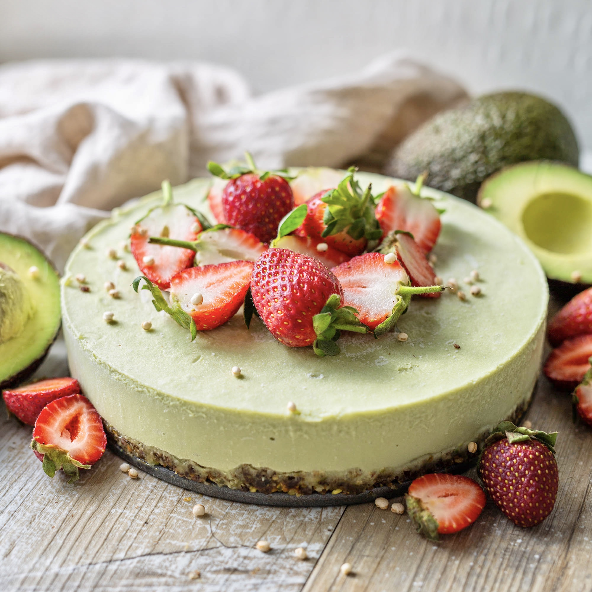 Raw Vegan Avocado Cake