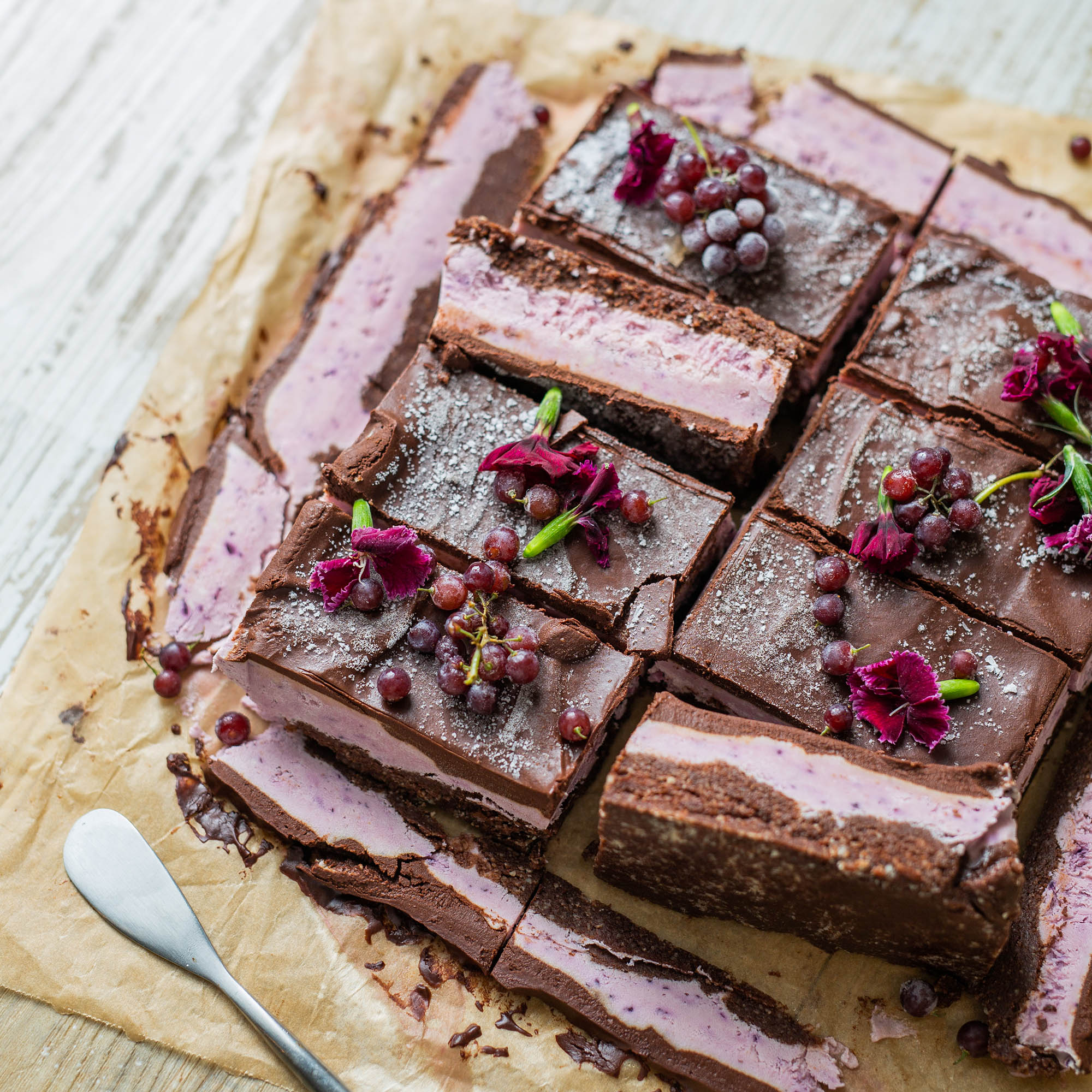 Raw Vegan Chocolate Plum Slice