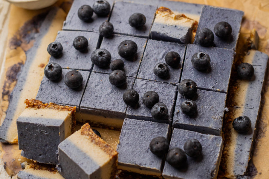 Raw Vegan Blueberry Hazelnut Slice