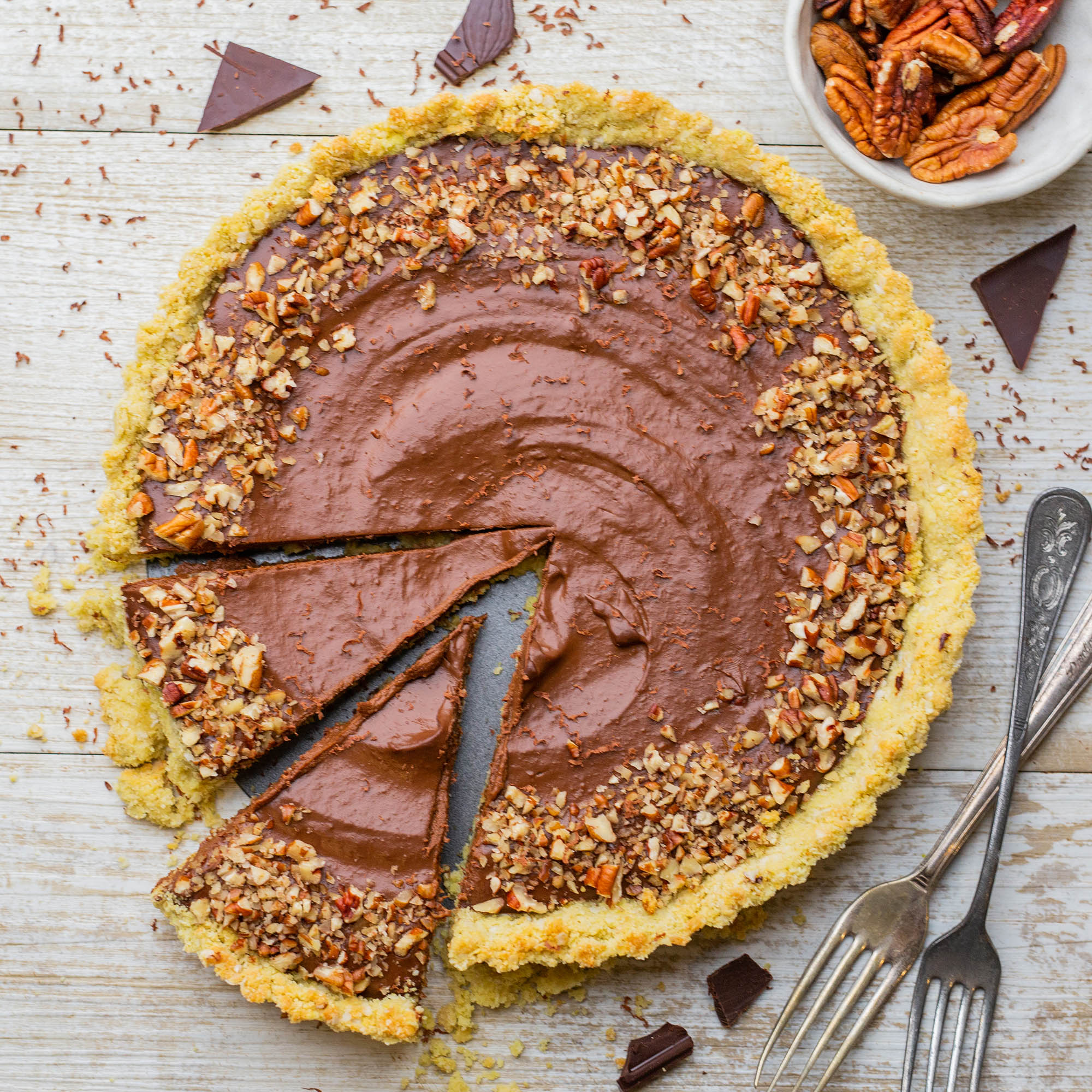 Easy Healthy Vegan Pumpkin Tart